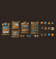 steampunk full asset for your mobile game retro vector image