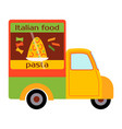 street food festival pasta trailer vector image