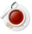 Tea drinking vector image vector image