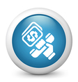 Telephone Banking Glossy Icon vector image vector image