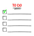to do list template with hand drawn doodle vector image vector image