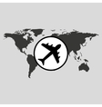 traveling world airport plane design graphic vector image vector image