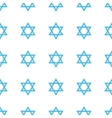 Unique Judaism seamless pattern vector image vector image