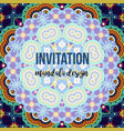 universal invitation mandala card vector image