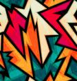 urban bright geometric seamless pattern vector image vector image