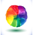 Watercolor rainbow background vector image vector image
