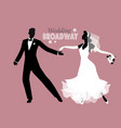 wedding dance bride and groom dancing broadway vector image vector image