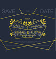 wedding invite card design vector image