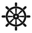 wooden ship wheel icon simple vector image