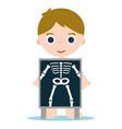 x ray bones kid vector image