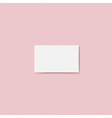 Blank business card Ready for your design vector image