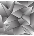 gray polygonal abstract triangular mosaic vector image