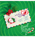 Christmas and New Year card with envelope christma vector image