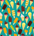Ice cream pattern Seamless background vector image