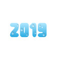 2019 blue water numbers vector image vector image
