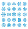 25 snowflakes set vector image vector image
