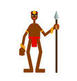 african warrior with a spear vector image vector image