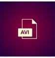 avi file icon vector image vector image