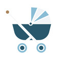 baby stroller color icon design sign vector image vector image