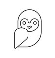 barn owl halloween related icon pixel perfect vector image vector image