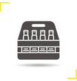 beer bottles box glyph icon vector image