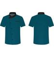 blue cook uniform vector image vector image