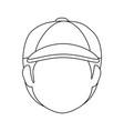 boy faceless avatar vector image vector image