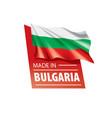 bulgaria flag on a white vector image