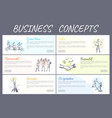 business concept collection vector image vector image