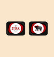butchery and steak label vector image vector image