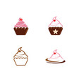 cake sign icon design template vector image vector image