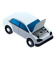 car in service icon isometric style vector image vector image