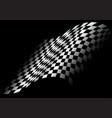 checkered flag flying in black design race sport vector image vector image