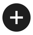 circle plus icon simple style vector image