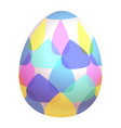 colored easter egg isolated vector image vector image