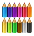colour pencils vector image