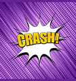 comic dynamic purple template vector image vector image