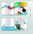 corporate booklet promotion template with color vector image vector image