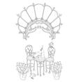 cute wine table in Paris vector image vector image