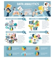 Data Analytics Infographic Elements Flat Poster vector image vector image