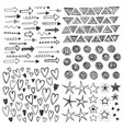 doodles collection vector image