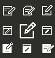 edit icons set vector image vector image
