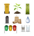 environmental preservation set vector image vector image
