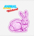farm animal rabbit in sketch style on colorful vector image vector image
