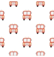 Fire truck icon cartoon pattern silhouette fire vector image vector image