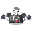 fitness binder clip in the character shape vector image vector image