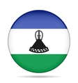 Flag of Lesotho Shiny round button vector image