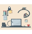 flat design business office vector image vector image