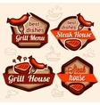 food logos set vector image vector image