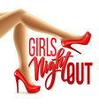 Girl Night Out Party Design vector image